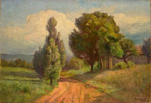 Theodore Clement Steele - Country Road (Summer,The Belmont Road)