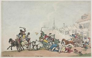 Thomas Rowlandson - A Cart Race