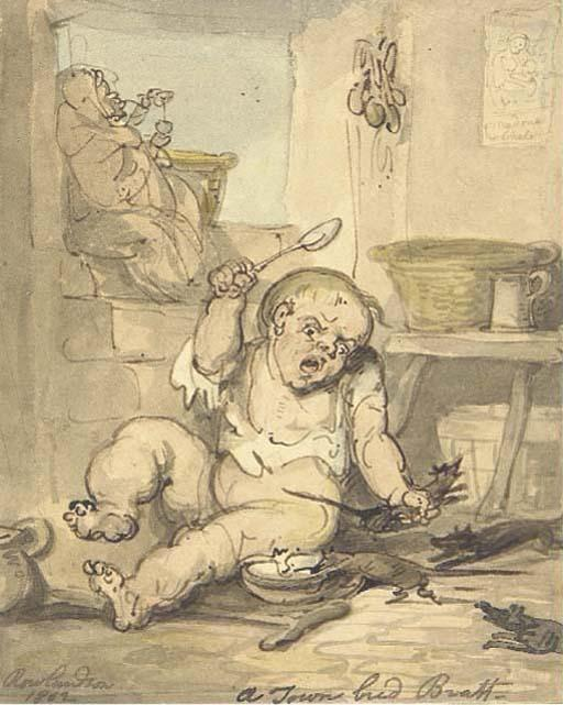 famous painting A town bred bratt of Thomas Rowlandson