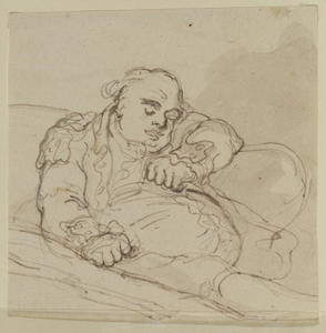 Thomas Rowlandson - Man asleep in an arm-chair