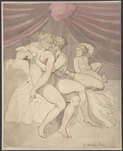 Thomas Rowlandson - Nude Couple Embracing 1