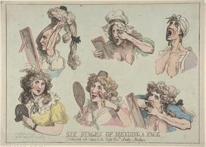 Thomas Rowlandson - Six Stages of Mending a Face, Dedicated with respect to the Right Hon-ble. Lady Archer