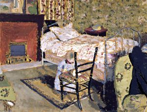 Jean Edouard Vuillard - Child Playing: Annette in front of the Rail-Backed Chair
