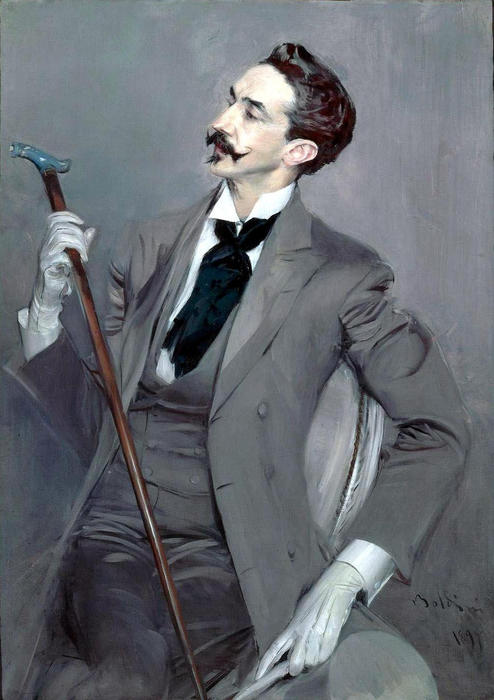 Order Reproductions Pop Art | Count Robert de Montesquiou by Giovanni Boldini | BuyPopArt.com