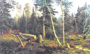 Ivan Ivanovich Shishkin - Cutting of wood