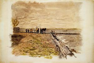 Thomas Eakins - Drawing the Seine