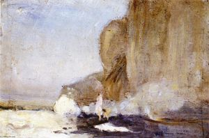 Charles Edward Conder - Figures on a aRocky Promontory, Dieppe