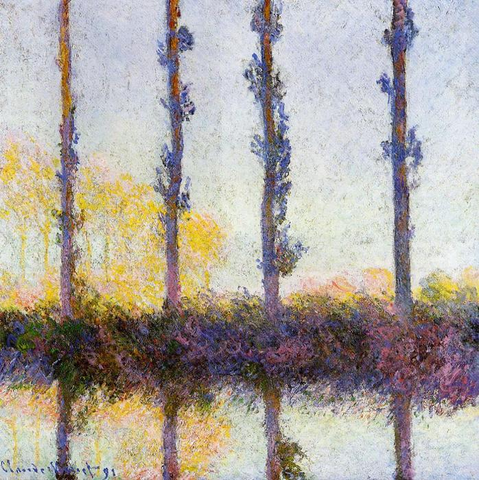 famous painting Four Trees of Claude Monet