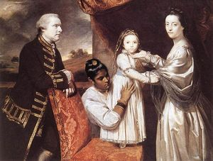 Joshua Reynolds - George Clive and his Family with an Indian Maid