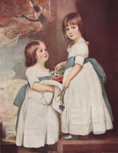 George Romney - The Horsley Children, Master George and Miss Charlotte