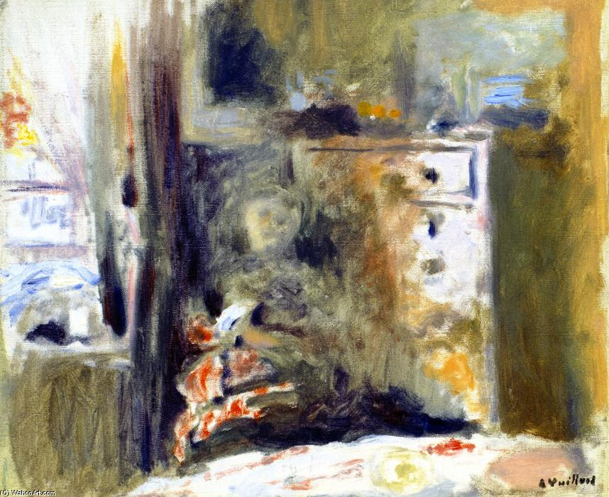 famous painting Interior with Woman Sewing of Jean Edouard Vuillard