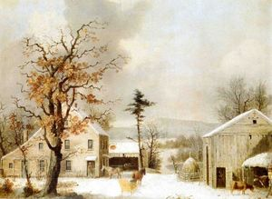 George Henry Durrie - Jones Inn, Winter