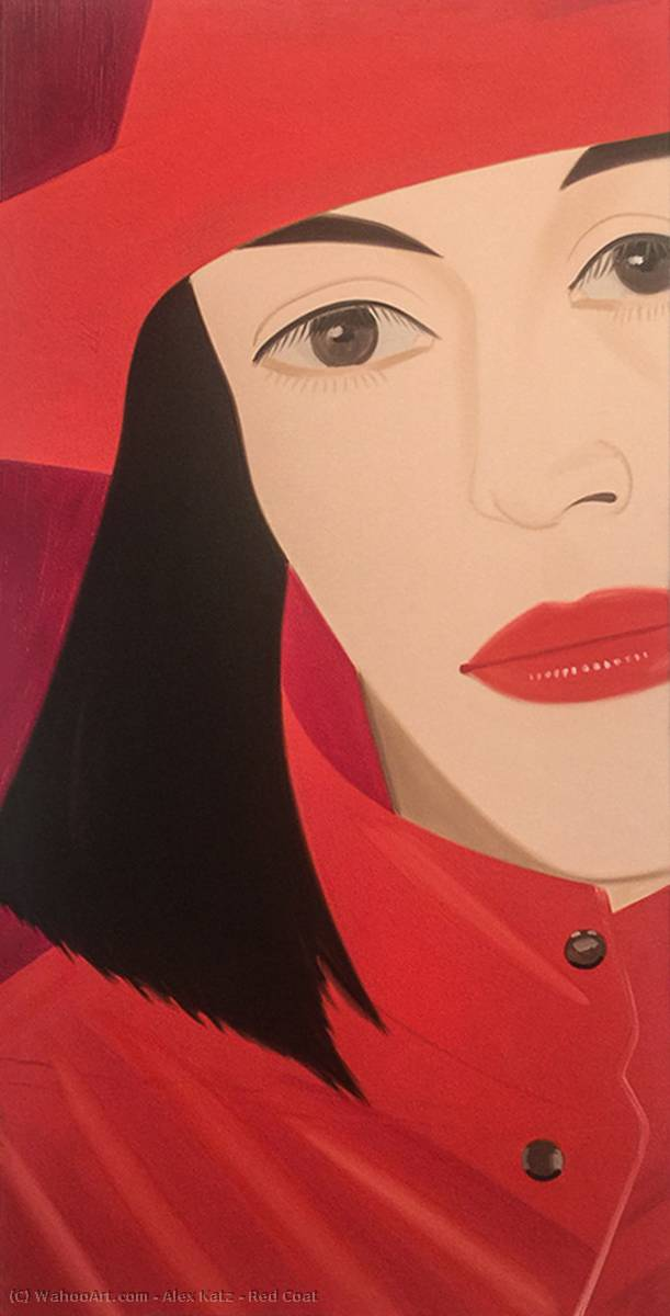 famous painting Red Coat of Alex Katz