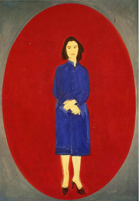famous painting Ada (Oval) of Alex Katz
