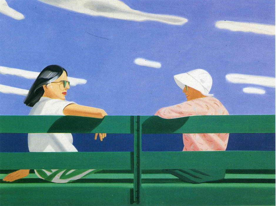 famous painting Ada and Luisa of Alex Katz