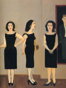 Alex Katz - Ada in Black Dress