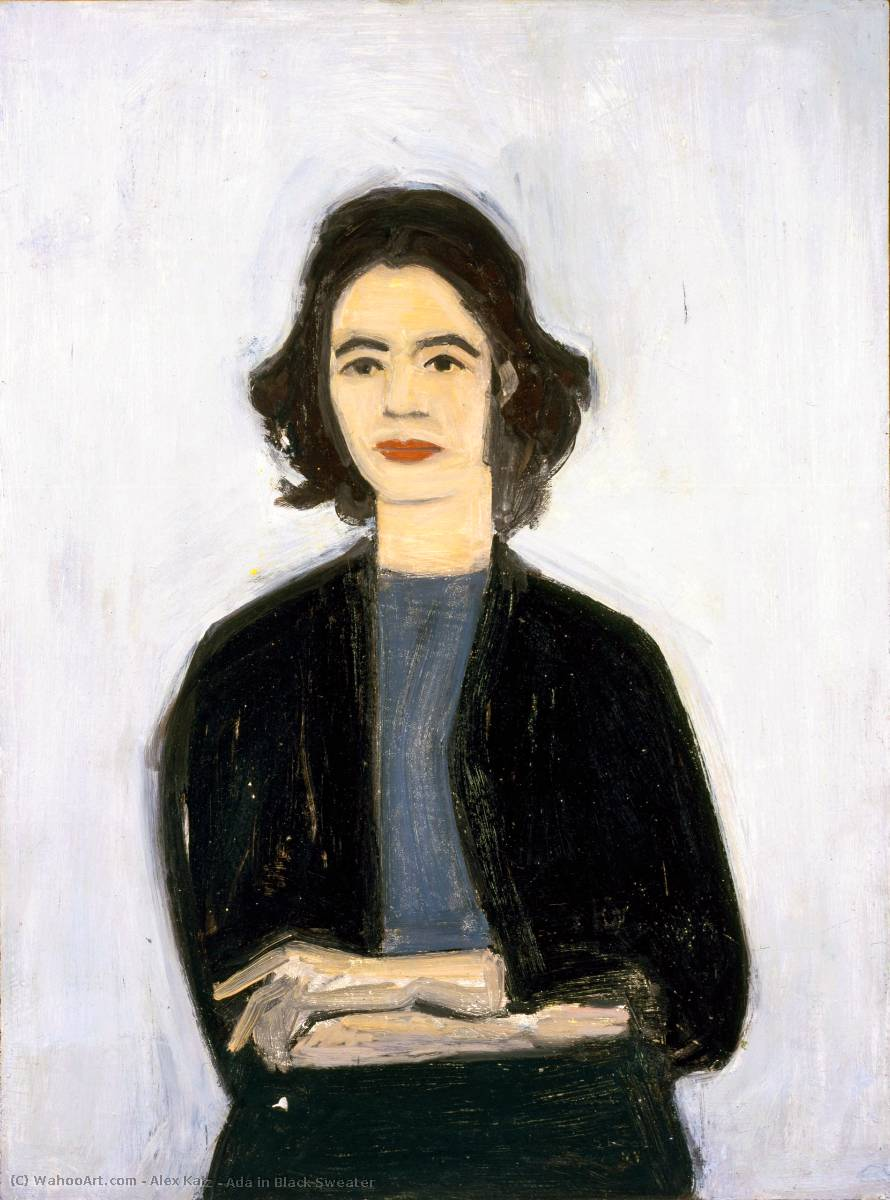 famous painting Ada in Black Sweater of Alex Katz
