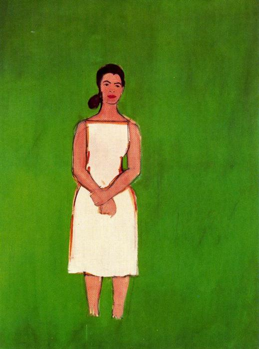 famous painting Ada in White Dress of Alex Katz