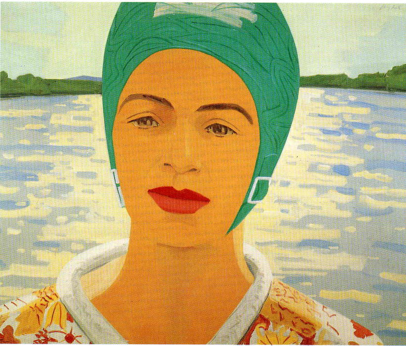 famous painting Ada With Bathing Cap of Alex Katz