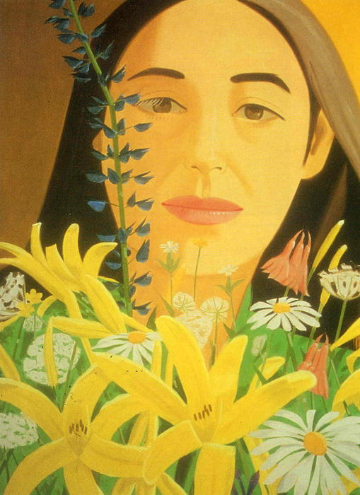 famous painting Ada with Flowers of Alex Katz