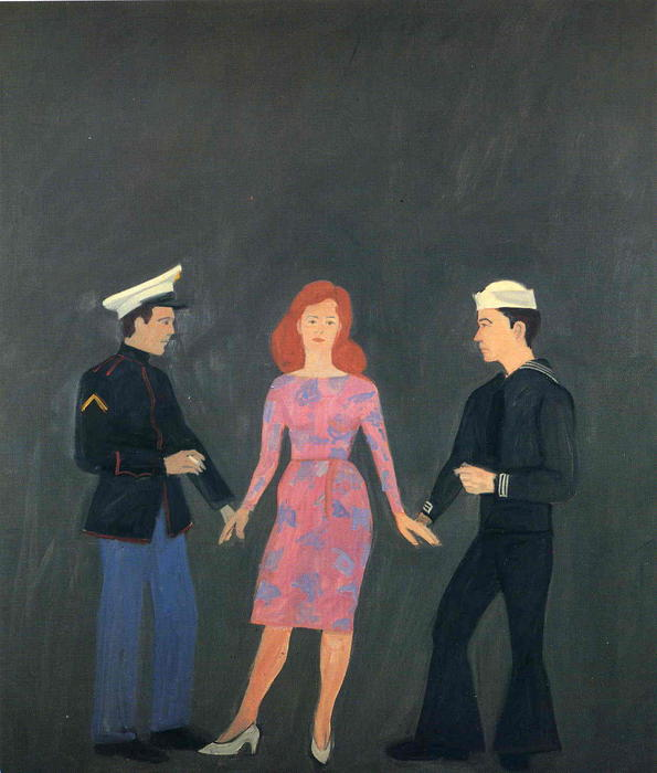 famous painting Rockaway of Alex Katz