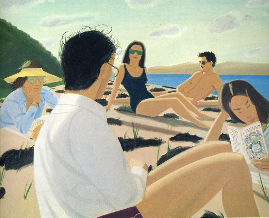 famous painting Round Hill of Alex Katz