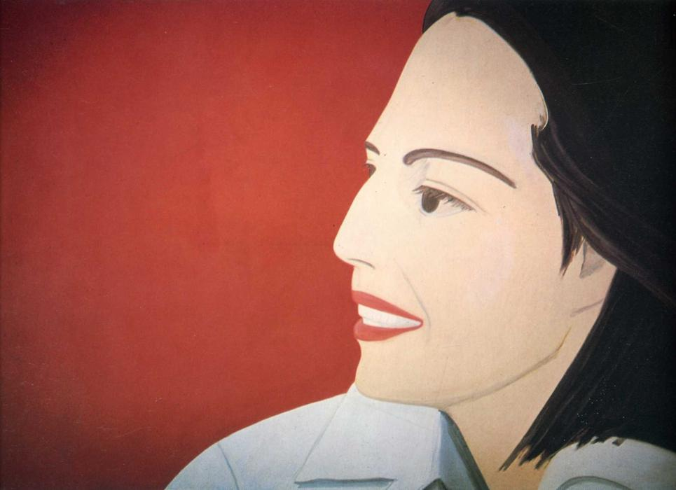 famous painting The Red Smile of Alex Katz