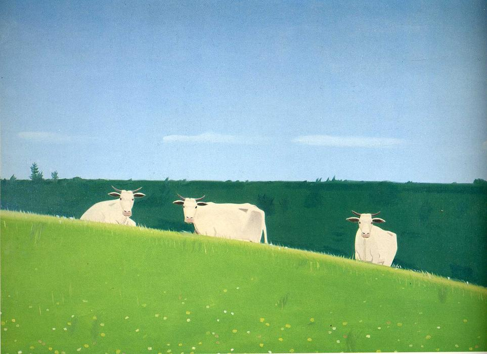 famous painting Three Cows of Alex Katz