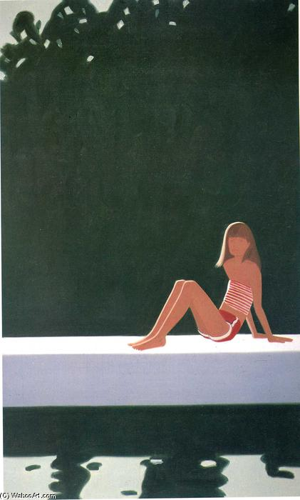 famous painting Tracy On The Raft At of Alex Katz