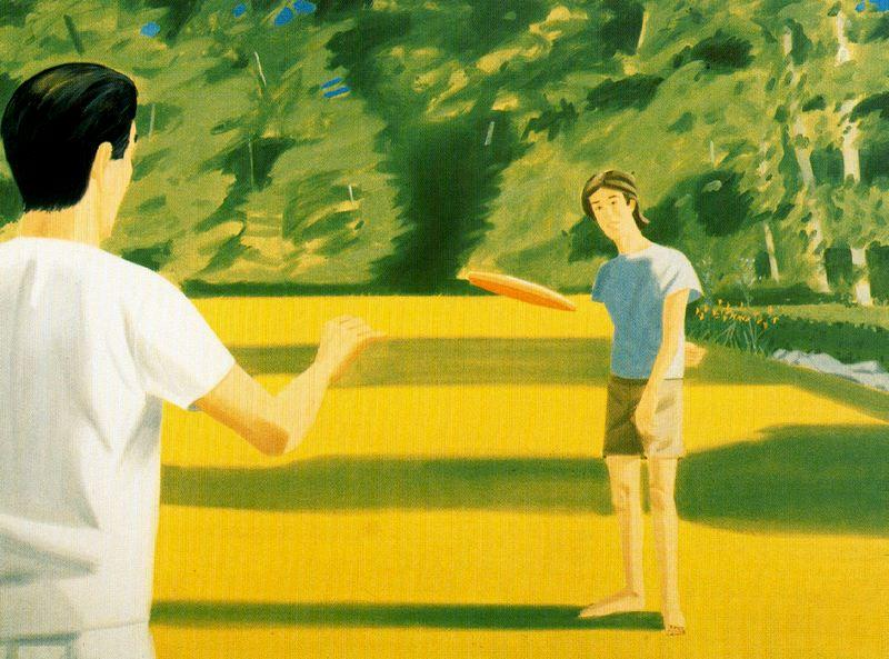 famous painting Vincent Katz (with Frisbee) of Alex Katz