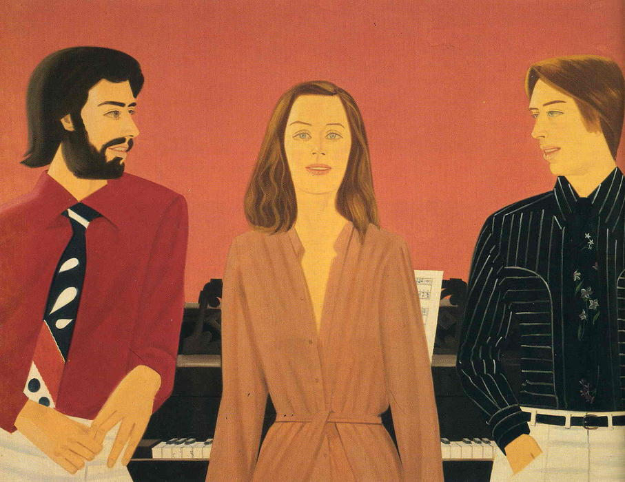 famous painting Vincent, Ruth and Paul of Alex Katz