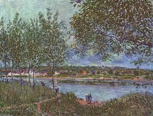 Alfred Sisley - By way of the old ferry