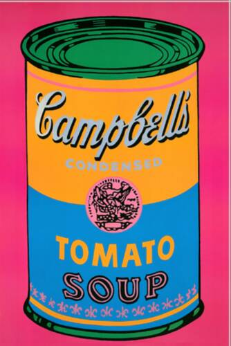 famous painting Campbells Soup Pink of Andy Warhol