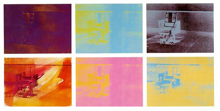 famous painting Electric Chair of Andy Warhol