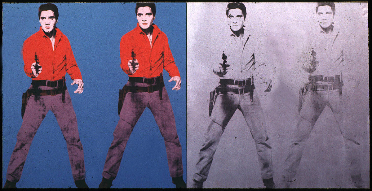 famous painting Elvis Presley of Andy Warhol
