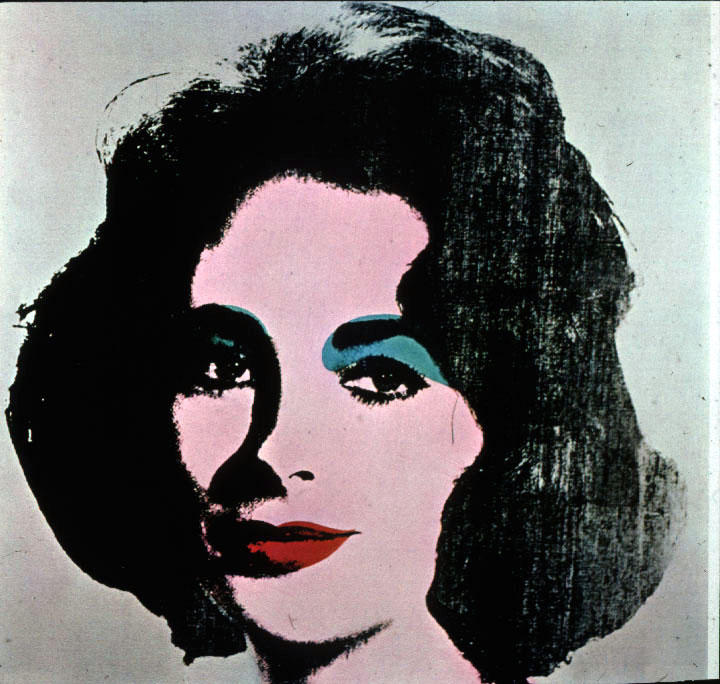 famous painting Liz Taylor of Andy Warhol