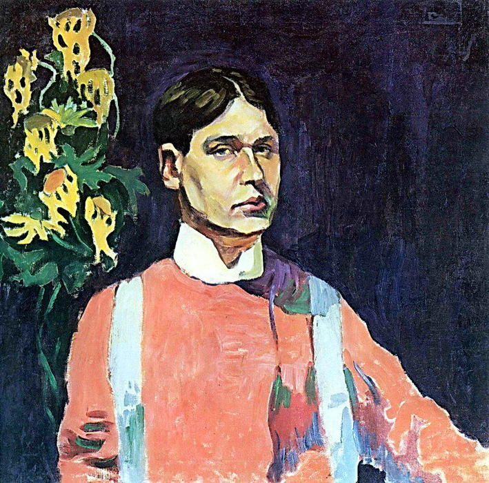 famous painting Self-portrait of Aristarkh Vasilevich Lentulov