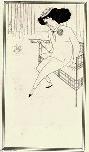 Aubrey Vincent Beardsley - Caricature of James McNeill Whistler