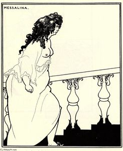 Aubrey Vincent Beardsley - Messalina Returning from the Bath