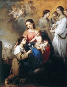 Bartolome Esteban Murillo - The Virgin and Child with St. Rosalina
