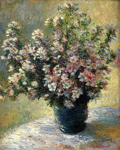 Claude Monet - Vase of Flowers
