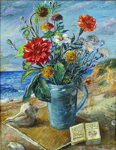 David Davidovich Burliuk - Flowers by the Sea