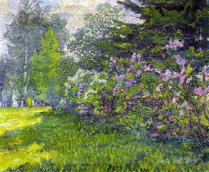 David Davidovich Burliuk - Lilac in the park