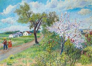 David Davidovich Burliuk - Spring on Long Island