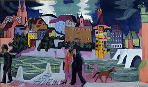 Ernst Ludwig Kirchner - View of Basel and the Rhine