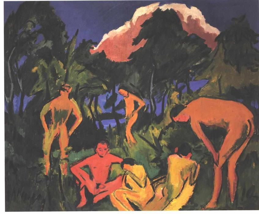 famous painting Nudes in the Sun of Ernst Ludwig Kirchner