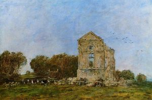 Eugène Louis Boudin - Deauville, Ruins of the Chateau de Lassay