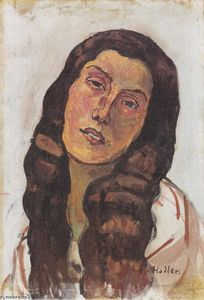 Ferdinand Hodler - Valentine Gode Darel, with disheveled hair