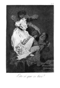 Francisco De Goya - This certainly is reading