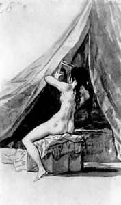 Francisco De Goya - Naked girl looking in the mirror